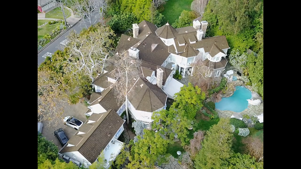 Celebrity Home Aerial View 4